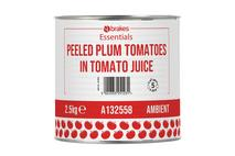 Brakes Essentials Peeled Plum Tomatoes in Tomato Juice