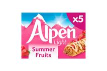 Alpen Light Cereal Bar Summer Fruit