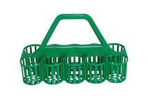 Green Plastic Bottle/Glass Carrier