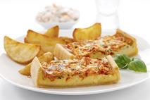 Brakes Essentials Fully Baked Tomato & Cheese Quiche Slabs