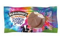 Ben & Jerrys Cookie Dough Peace Pop