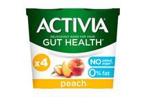 Activia Peach Fat Free Yoghurt