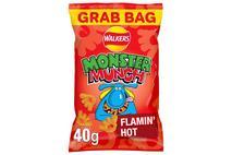 Walkers Monster Munch Flamin' Hot Snacks 40g