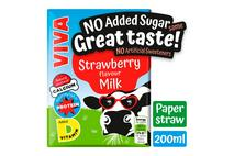 Viva Strawberry Flavoured Semi-Skimmed Milk UHT 200ml