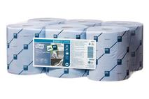 Tork 473263 Tork Reflex™ Wiping Paper Plus, Single Sheet Centrefeed, 2ply, Blue, 150m