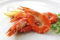 Cooked Whole King Prawn Crevettes (head on, shell on)