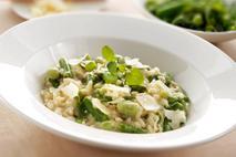 Brakes Asparagus, Broad Bean & Roasted Garlic Risotto