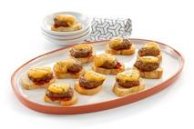 Brakes Mini Cheeseburger Crostini