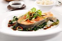 M&J Seafood MSC Wild Alaskan Keta Salmon Steaks (skin on, pin bone in)