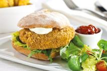 Green Gourmet British Red Tractor Breaded Mississizzling Chicken Breast Fillet Portion 80g