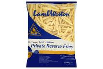 Lamb Weston Private Reserve Fries 11 x 11 Skin On
