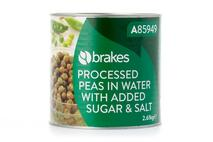 Brakes Processed Peas in Water with Added Sugar & Salt