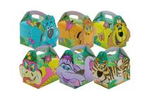 "Children's Food Jungle Lion & Friends Boxes 5.5x4x3.7""/14.2x10.2x9.4cm"