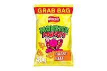 Walkers Monster Munch Roast Beef Snacks 40g