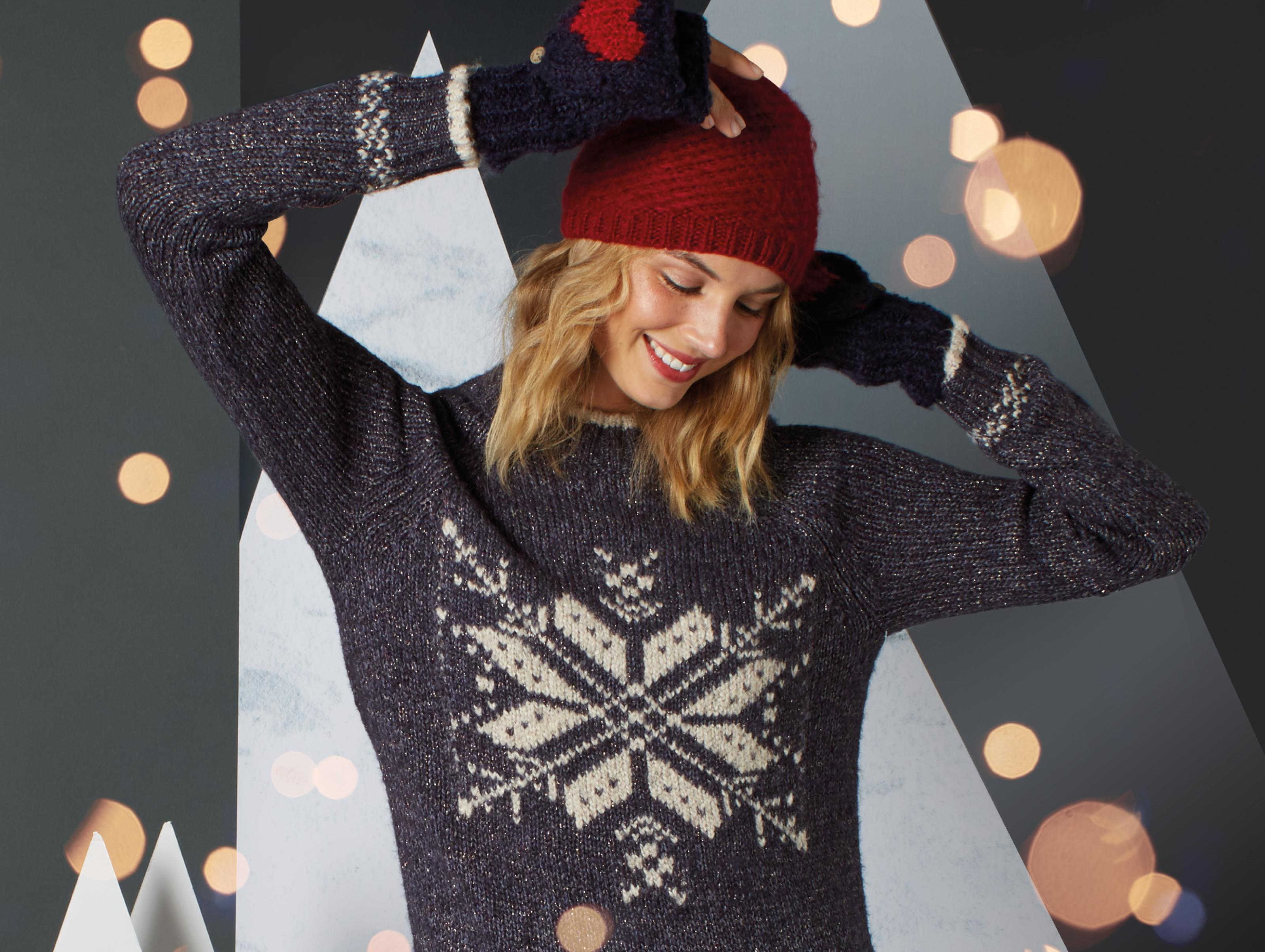 Layer up with women's jumpers and cardigans, from luxury cashmere to fun Christmas jumpers.