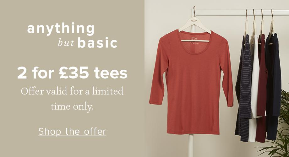 2 for £35 Tees