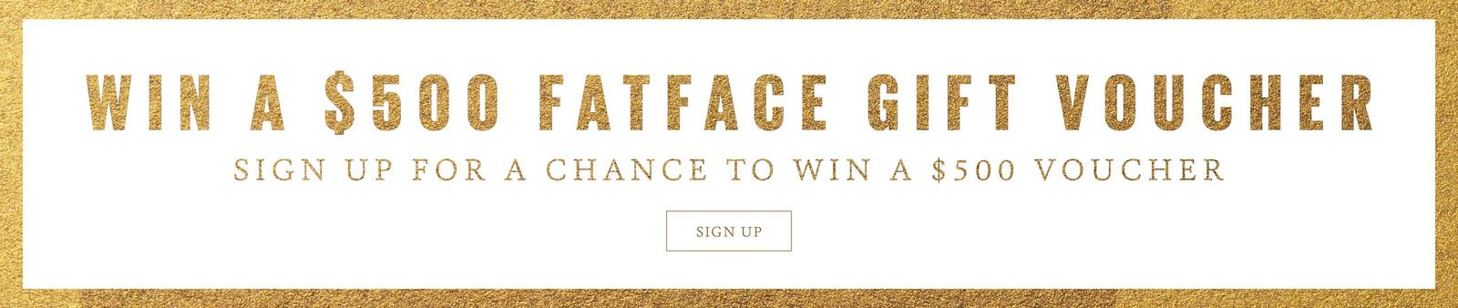 Sign up for a chance to win