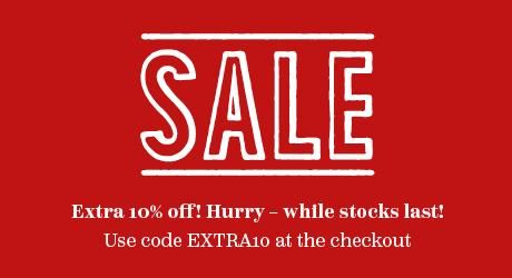 4d0c179b2635 Sale. Extra 10% off! Hurry- while stocks last! Use code EXTRA10