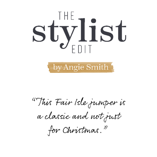 The Stylist Edit by Angie Smith Fatface female model wearing a black based top with white flowers.