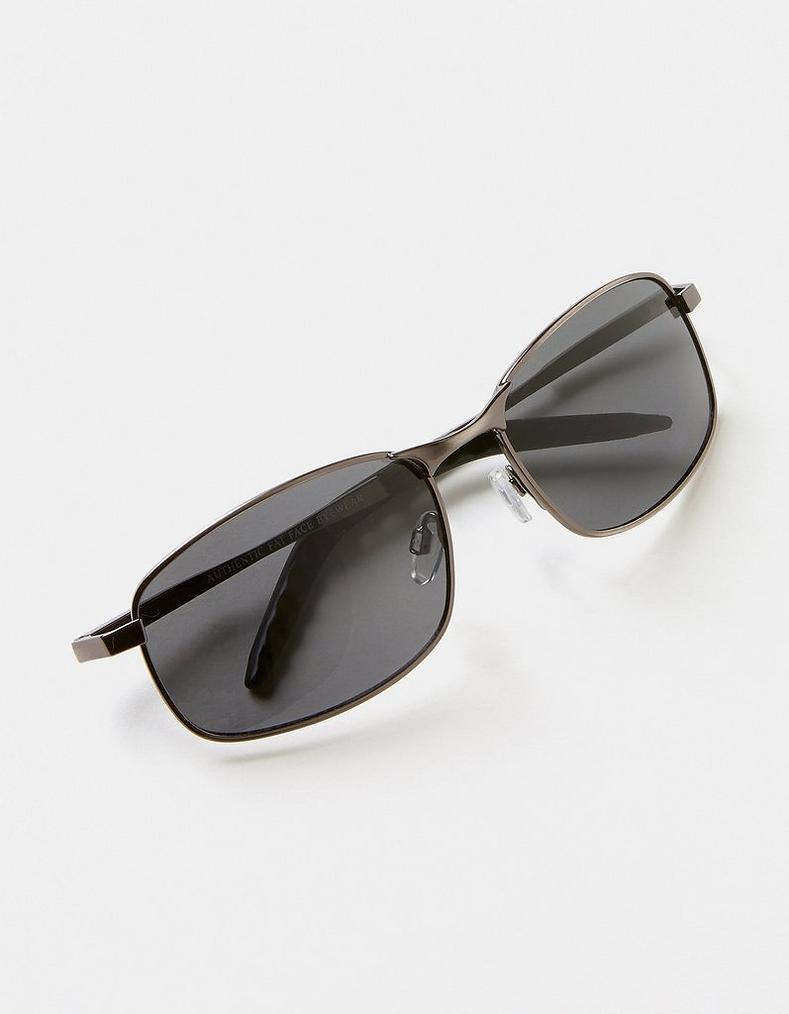Gunmetal Olley Metal Frame Sunglasses, Accessories | FatFace.com