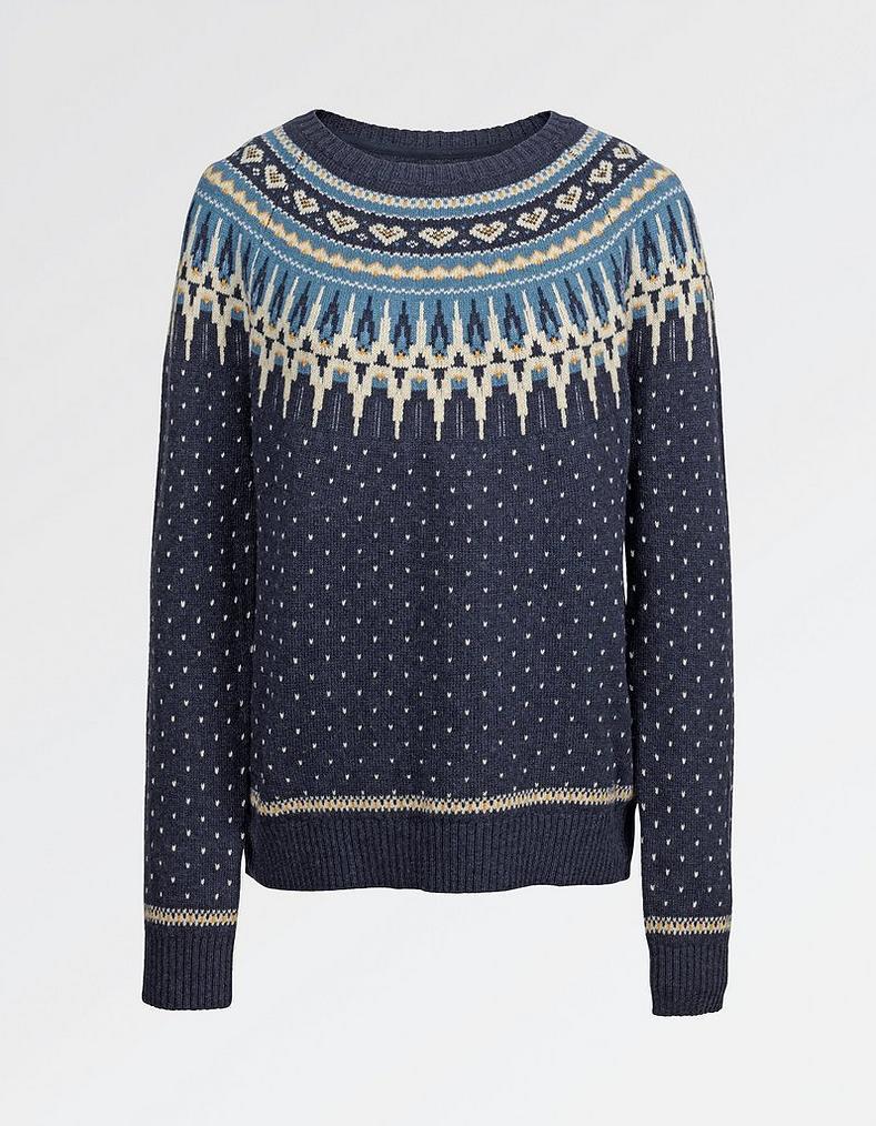 Farah Fairisle Christmas Jumper, Knitwear | FatFace.com