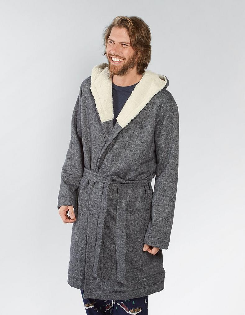 Borg Lined Dressing Gown, Nightwear | FatFace.com