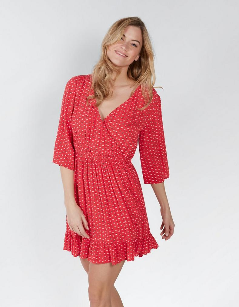 460f4e76385 Tomato Abigail Fleur Geo Wrap Dress