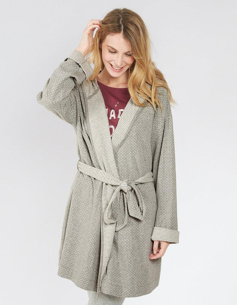 Snow Stripe Dressing Gown, Nightwear   FatFace.com