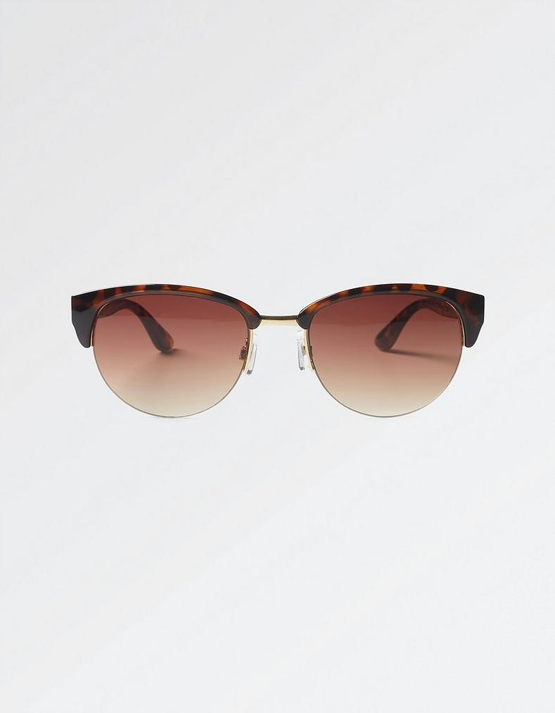 3c80d0c72 Tortoiseshell Round Clubmaster Sunglasses , Sunglasses | FatFace.com