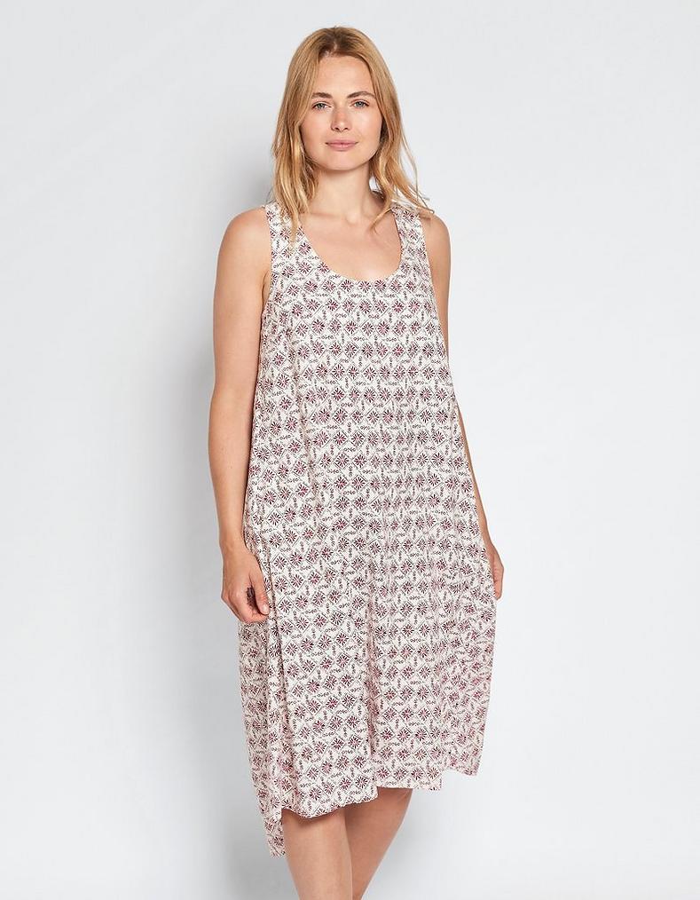 bfb2a38855 Lola Linen Daisy Diamond Dress