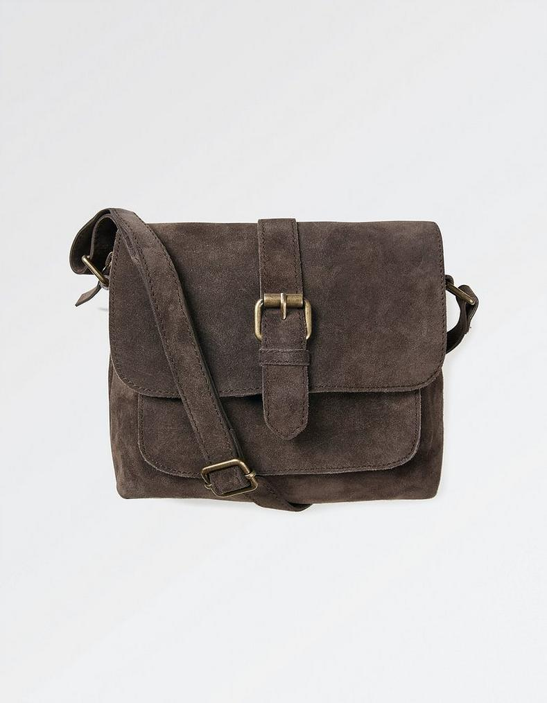 0d477f7bc53b Grey Cassie Suede Cross Body Bag