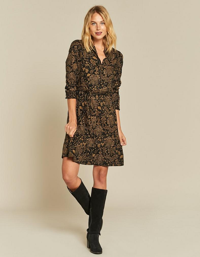 Charlie Crochet Floral Shirt Dress Dresses Skirts Fatfacecom