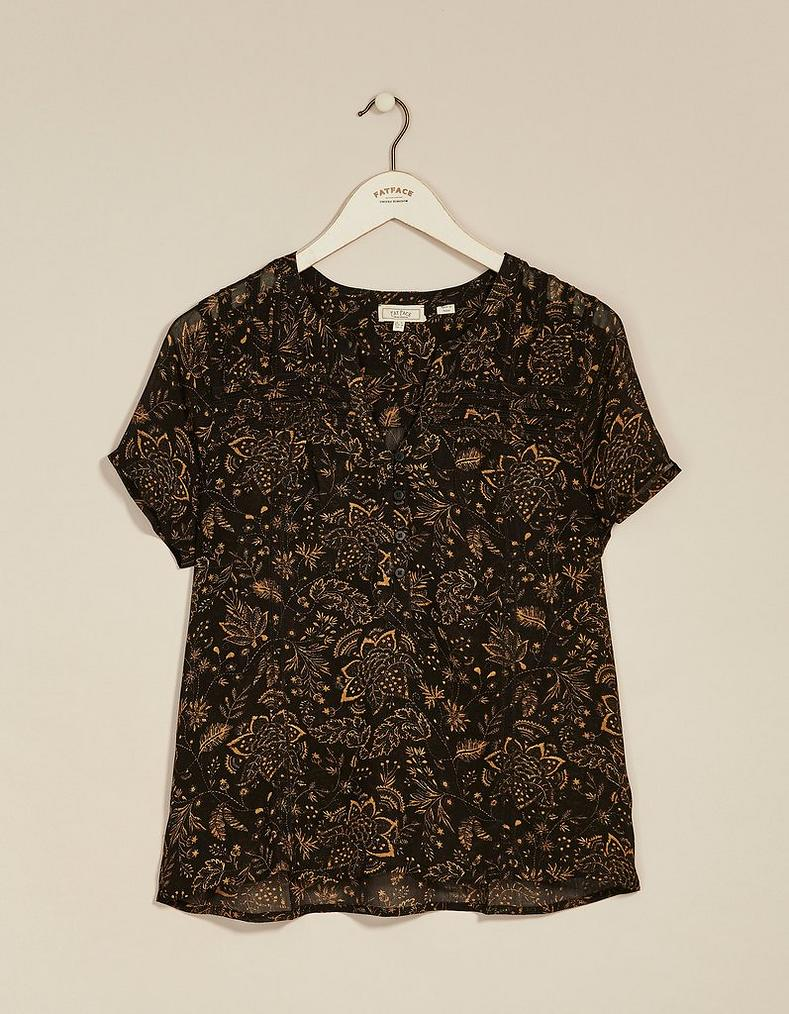 2794b2d6e33333 Gemma Crochet Floral Blouse