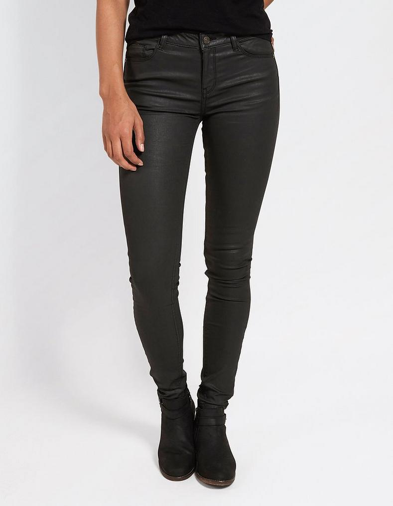 Five Pocket Coated Jeggings by Fat Face