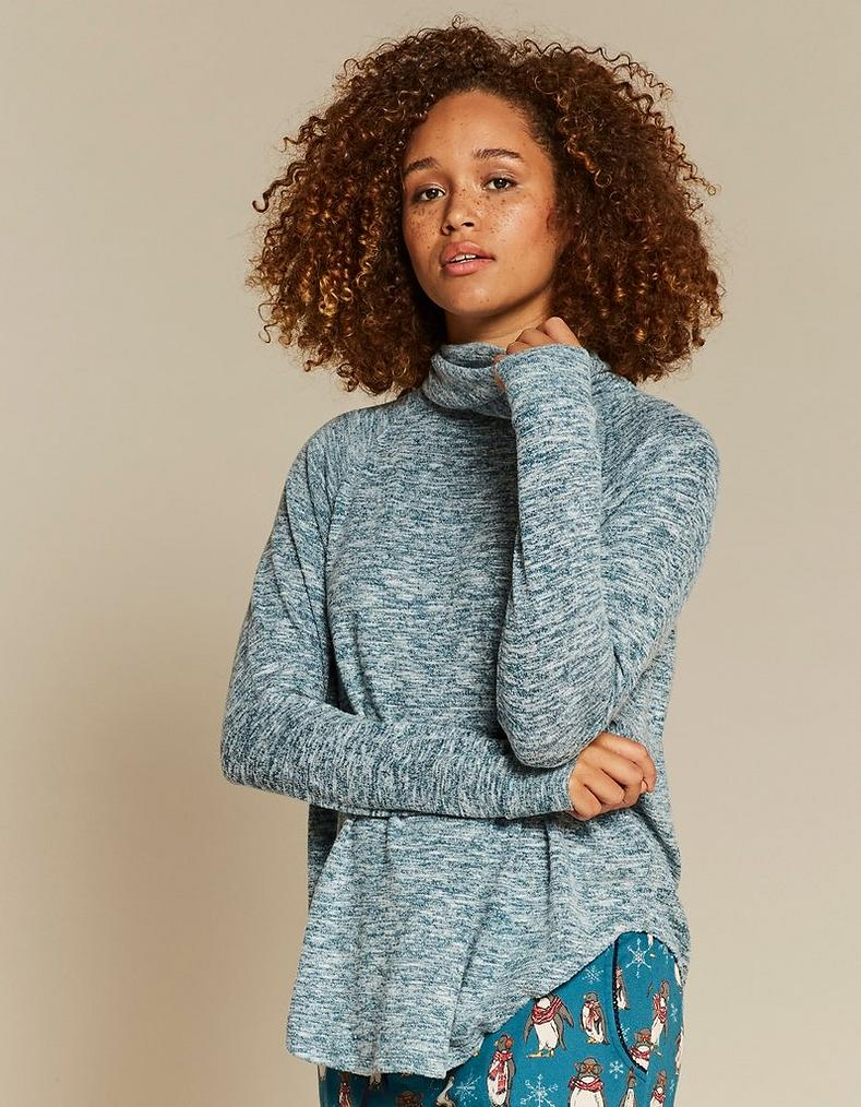 Soft Turtle Neck Lounge Top by Fat Face