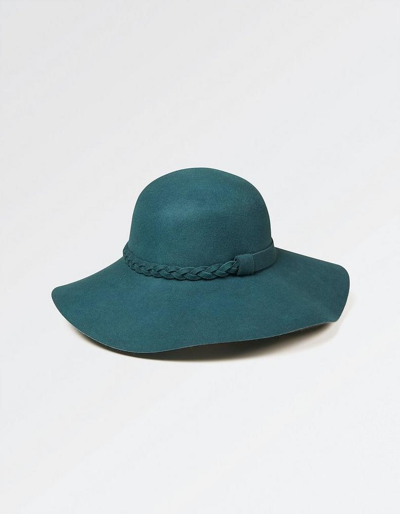 a13e5901b8d Teal Plait Detail Floppy Hat