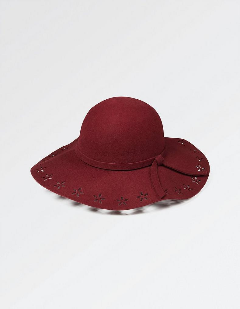 3773c5f1c35 Burgundy Cutout Detail Floppy Hat