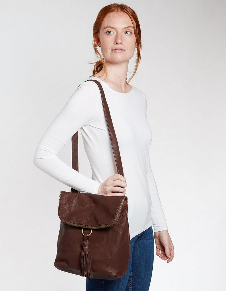 bfdc73115dc Chocolate Tara Leather Multi Functional Rucksack, Bags & Purses | FatFace .com