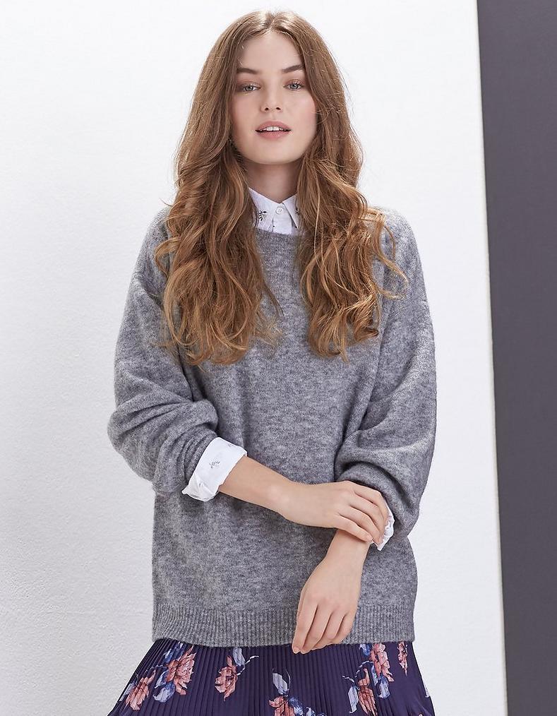 d74465a3e8e57f Saskia Balloon Sleeve Sweater, Sweaters & Cardigans | FatFace.com