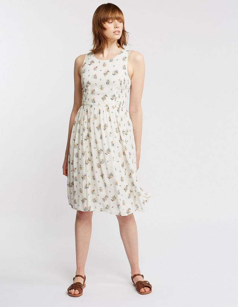 e995322b69 Ivory Karen Check Ditsy Dress, Dresses & Skirts   FatFace.com