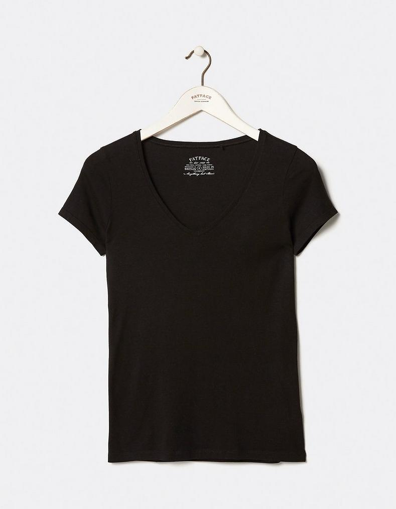 e6c22d60a940 Hannah V Neck T Shirt, Tops & T-Shirts | FatFace.com