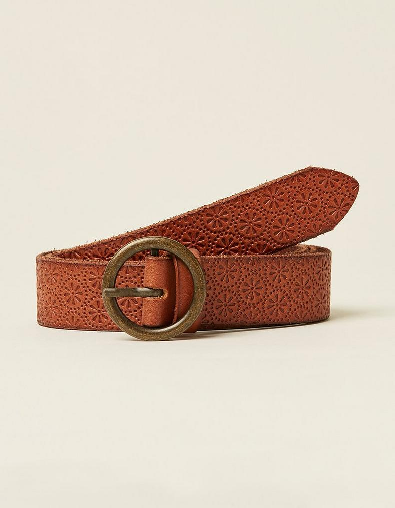 4186961aa Geo Embossed Leather Belt