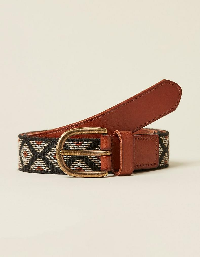 55a8b9f31 Aztec Woven Leather Belt