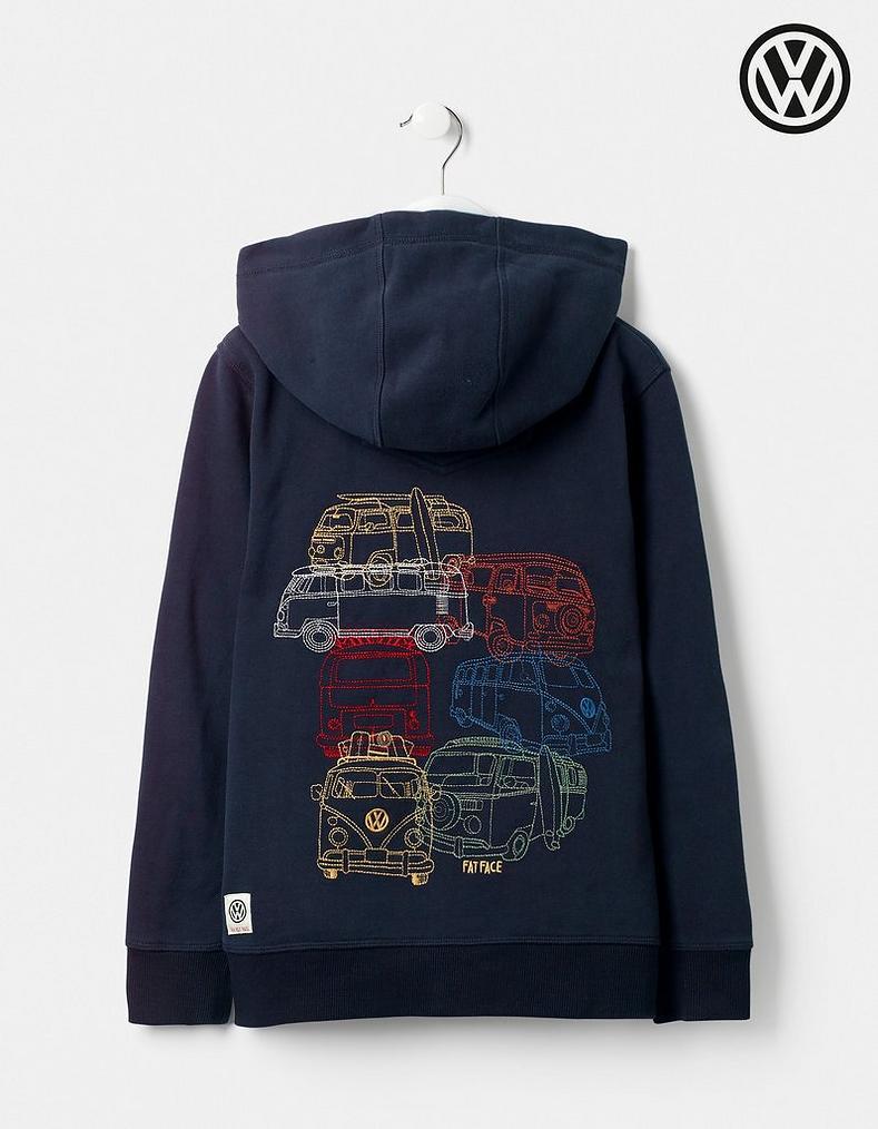 51e1c8b478f7 VW Zip Thru Graphic Hoody