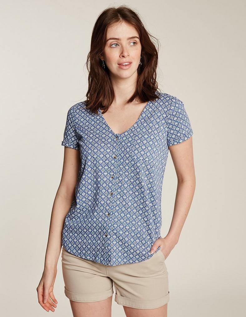 8ed81cd15 Annie Geo Tile Top, Tops & T-Shirts | FatFace.com