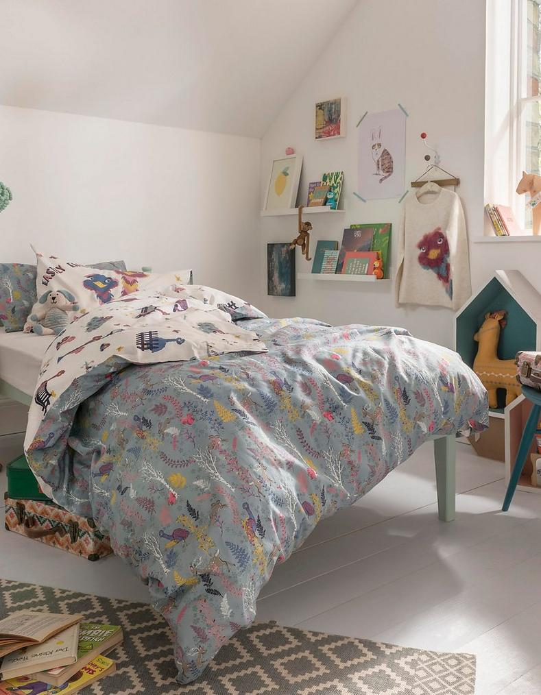 100/% Cotton Elsie Emu Childrens Duvet Cover Set Fat Face Kids Bedding