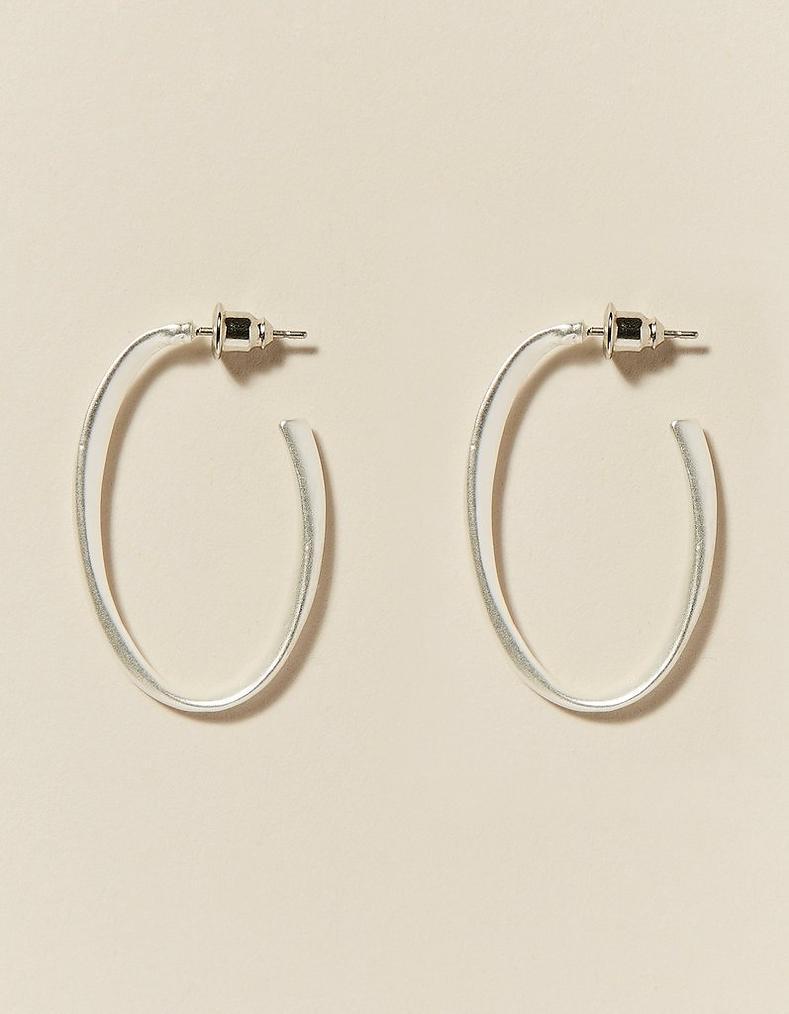 Silver Oval Hoop Earrings a9d70b602f