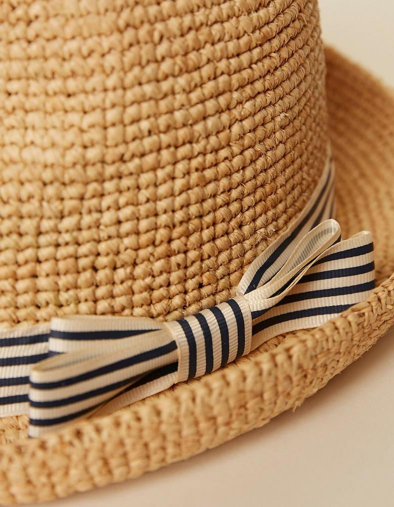 4610f80d Natural Stripe Band Trilby, Hats | FatFace.com