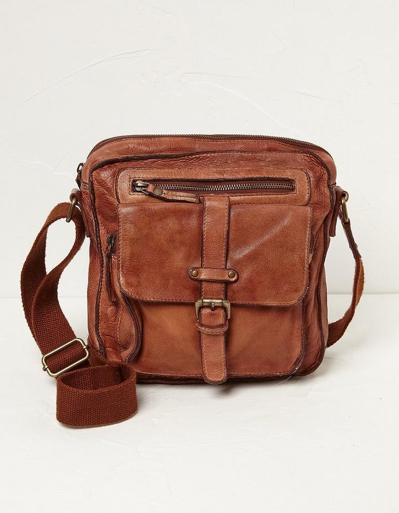 Chestnut Leather Cross Body Bag 000a59631