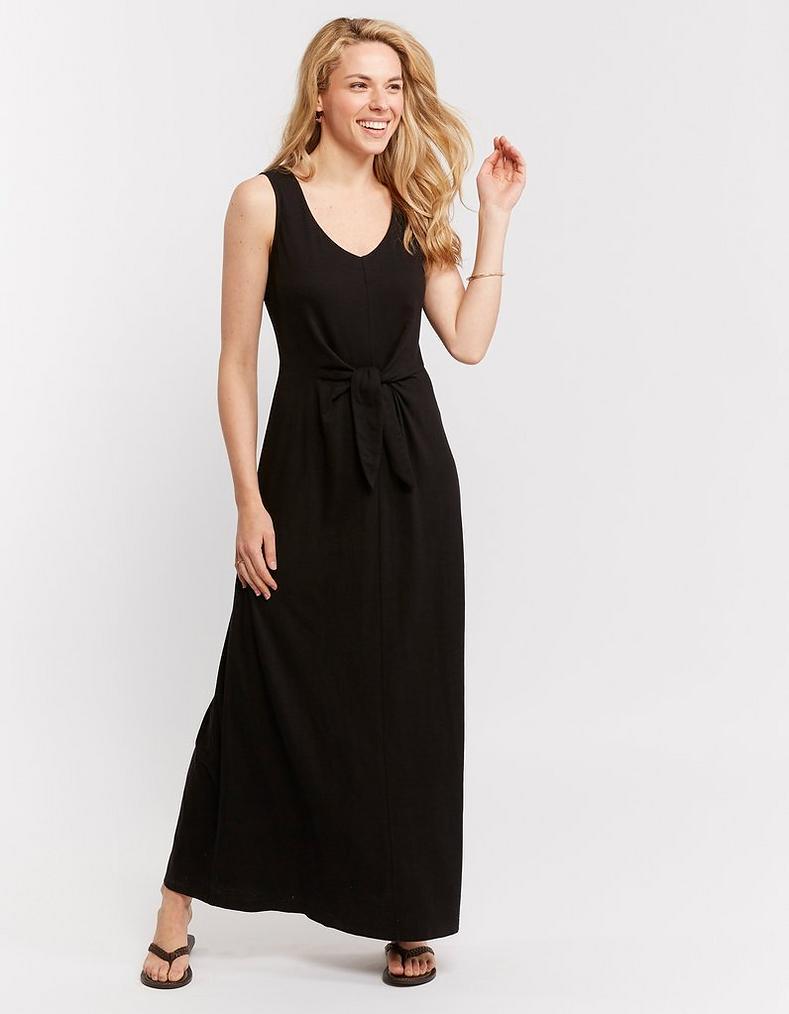 aff32c7d068ea Zuri Knot Front Maxi Dress, Dresses & Skirts | FatFace.com
